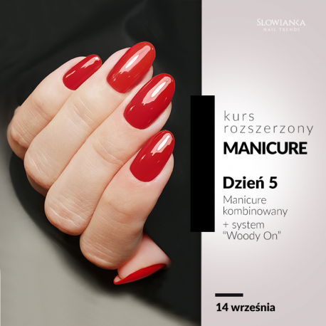 "Manicure kombinowany + system ""Woody On"""