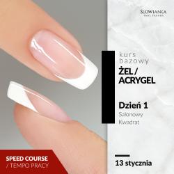 Budowa paznokci metodą żelową/acrygelową - Salonowy Kwadrat